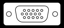 VGA端子ピン配置(Wikipedia)